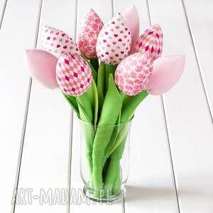 tulipany jasno różowy bawełniany bukiet, tulipany, kwiaty, dekoracja, pastelowe