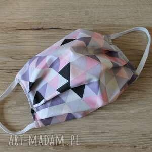 maseczka bawełniana - trójkąty, maska, maseczka, maseczki, kolorowe maseczki