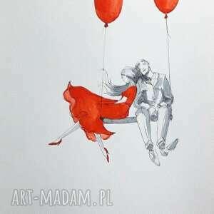 zapach romantyczny obraz akwarelami i piórkiem artystki adriany laube