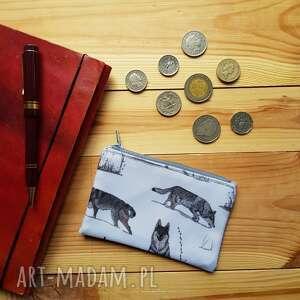 ręcznie wykonane portfele portfel mały wilk