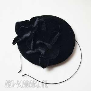 ozdoby do włosów aksamitek czarny, welur, aksamit, toczek, święta prezenty