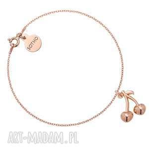 bransoletka z wisienkami z różowego złota sotho, wisienki