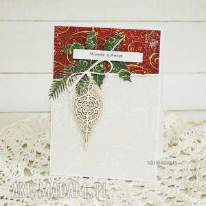 prezent pod choinkę Kartka świąteczna z bombką, 367, boże-narodzenie, kartka