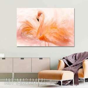 Obraz na ścianę flaming akwarela 120 x 80, nowoczesny do salonu