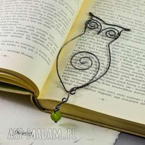 Prezent Sowa Alicja - zakładka z metalu ręcznie kuta, zakładka-do-książki