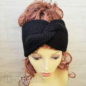 gruba opaska turban, zimowa, na głowe