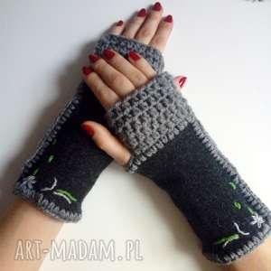 rękawiczki mitenki, ocieplacze, na dłonie, na prezent kobiece