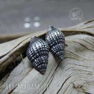 sea shells, kolczyki sztyfty, wkrętki, muszelki, marynistyczne