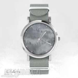 zegarek - wild life szary, nato, zegarek, bransoletka, las, dziki, prezent