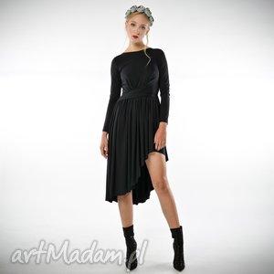 Cristina Patria Midi Black, sukienka, dzianinowa, jersey, midi