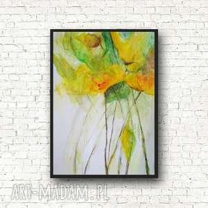 kwiaty-akwarela formatu a4, kwiaty, papier, święta