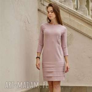 ręcznie wykonane sukienki stripes sukienka z dzianiny bawełnianej