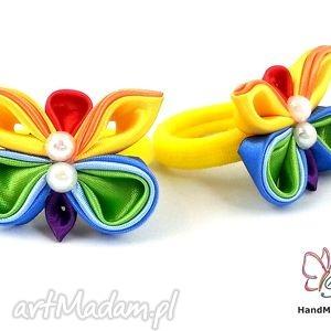 ręcznie robione ozdoby do włosów gumka do włosów z motylkiem