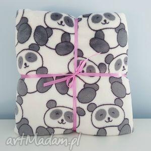 mięciutki kocyk w pandy 80x100 - panda, kocyk, minky, mięciutki, puszysty