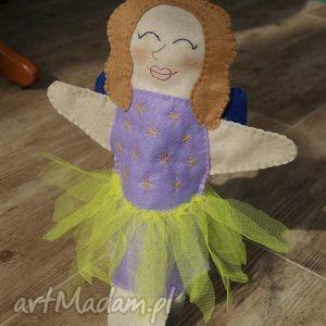 zabawki filcowa pacynka leśna wróżka - maskotka do kreatywnej zabawy, filc, teatr