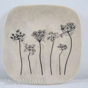 Talerzyk roślinny - ,ceramiczny,podstawka,świecznik,roślinny,na-przekąski,