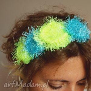 ozdoby do włosów opaska wianuszek neon błękit turkus, opaska, wianuszek, ozdoba