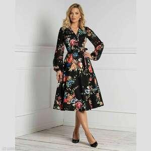 sukienka ivana total midi hiacynta, na jesień, jesienna