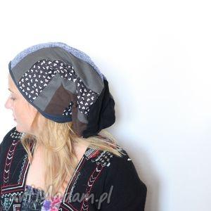 ręcznie robione czapki jesienne zaangażowanie w liści szuranie