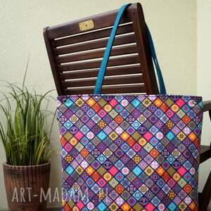 hand-made na ramię wodoodporna kolorowa torba