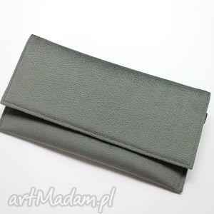kopertówki kopertówka - szara, elegancka, nowoczesna, wizytowa, wieczorowa, handmade