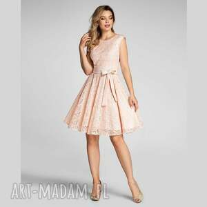 sukienki sukienka scarlett mini mirella róż, mini, rozkloszowana, na wesele