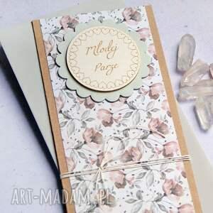 hand-made kartki kartka ślubna: pastelowa
