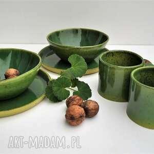 zestaw ceramiczny dla dwojga talerz, miseczka, kubek, ceramika, miska