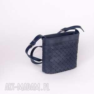 handmade mini torebka łuska mała granat