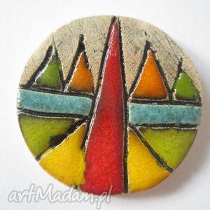 aztecka - ceramiczna, różnokolorowa, wzory, jesienna, prezent, unikat