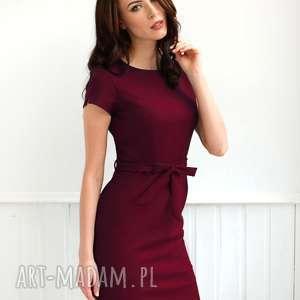 Sukienka Sara Rubinowa Roz. 36;38;40, sukienka-ołówkowa, bordowa-sukienka