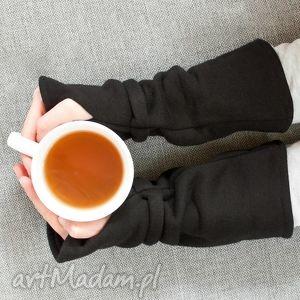 mitenki - czarne - mitenki, dresowe, ciepłe