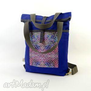 torba na ramię i plecak 2w1, indygo , święta, prezent, dziewczyny, niej, boho, damska