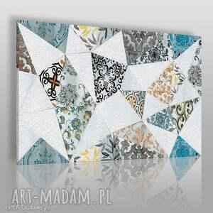 obraz na płótnie - trójkąty wzory maroko 120x80 cm 67901, trójkąty, maroko