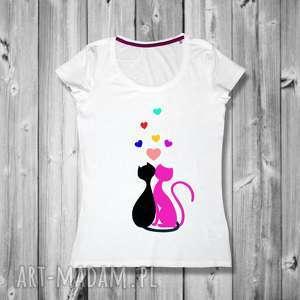 bluzka w kotki - ręcznie malowana artystyczna i jedyna swoim rodzaju, t-shirt