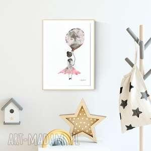 ręcznie robione pokoik dziecka obrazek namalowany ręcznie 30 x 40 cm, ilustracja dla dzieci, plakat pokoik dziecka