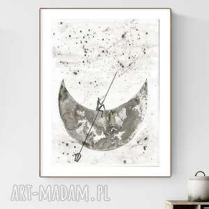 handmade dekoracje grafika 30x40 cm wykonana ręcznie, abstrakcja, elegancki minimalizm