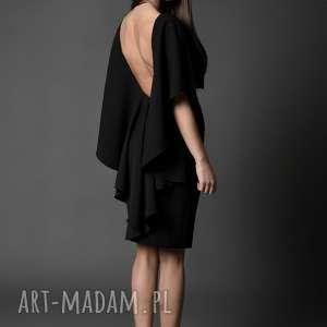 koktajlowa sukienka z dekoltem / IMAAN, sukienka, dekolt, midi, falbany,