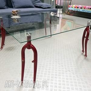 święta prezent, stół szklany forks, kawowy, rowerowy, szklany, salonu, ława, rower