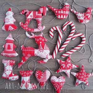 renifer choinka konik dekoracje świąteczne zestaw 15 sztuk - mikołaj
