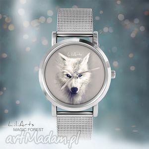prezent Zegarek, bransoletka - Biały wilk Magic Forest, zegarek,