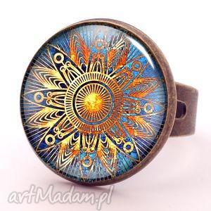orientalne słońce - pierścionek regulowany egginegg, kobiecy