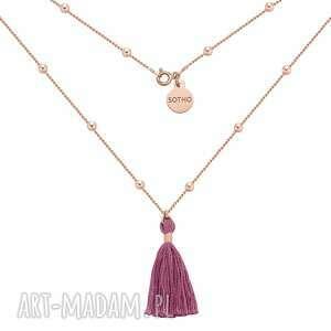 naszyjnik z różowego złota z chwostem sotho - długi