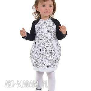 ubranka sukienka duszki, bawelna, sukienka, jesień dla dziecka, oryginalny