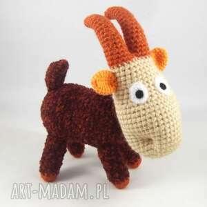 koziołek meelek - szydełkowa maskotka, koziołek, koza, kózka, kozioł