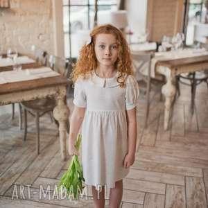 Sukienka Melanie, sukienkadokomunii, kremowasukienka, sukienka, dladziewczynki