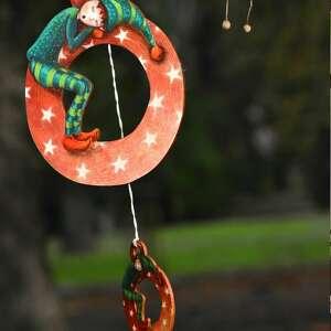 mały elf v - zawieszka na choinkę, dekoracja choinkowa, sklejka, drobny upominek