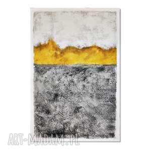 Spilled honey, abstrakcja, nowoczesny obraz ręcznie malowany