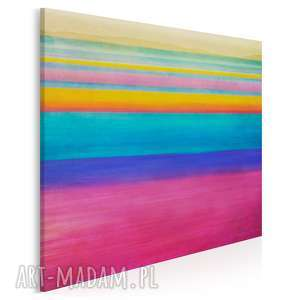 obraz na płótnie - abstrakcja tęcza 80x80 cm 11201, tęcza, abstrakcja, nowoczesny