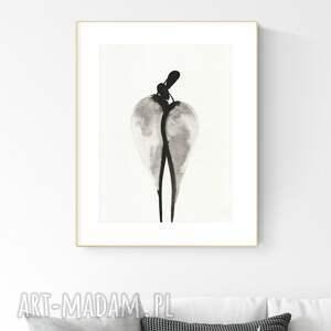 grafika 30x40 cm wykonana ręcznie, abstrakcja, obraz do salonu, 2949425